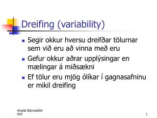 Dreifing (variability)