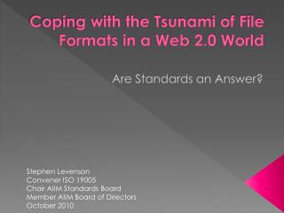 Coping with the Tsunami of File Formats in a Web 2.0 World