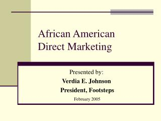 African American  Direct Marketing
