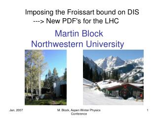 Imposing the Froissart bound on DIS ---> New PDF's for the LHC