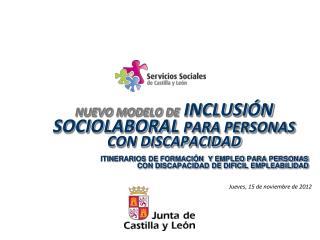 NUEVO MODELO DE  INCLUSIÓN SOCIOLABORAL  PARA PERSONAS CON DISCAPACIDAD