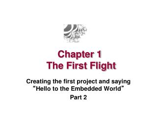 Chapter 1  The First Flight