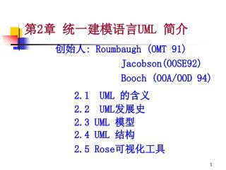 第 2 章 统一建模语言 UML  简介