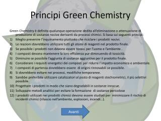 Principi Green  Chemistry