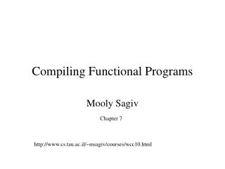 Compiling Functional Programs