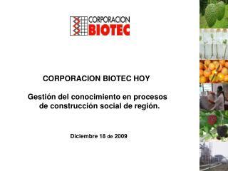 CORPORACION  BIOTEC HOY Gesti�n del  conocimiento  en  procesos