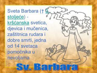 Sv. Barbara