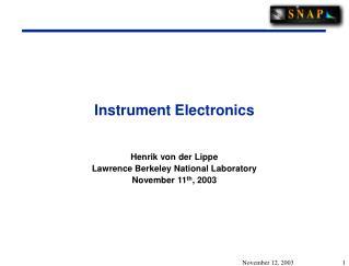 Instrument Electronics