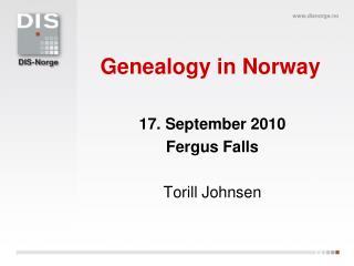 Genealogy in Norway