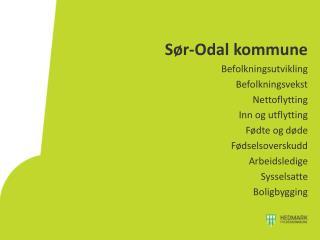 S�r-Odal  kommune Befolkningsutvikling Befolkningsvekst Nettoflytting Inn og utflytting