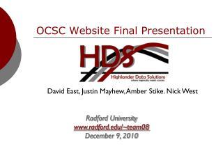OCSC Website Final Presentation
