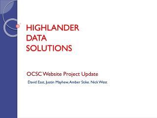 HIGHLANDER  DATA  SOLUTIONS