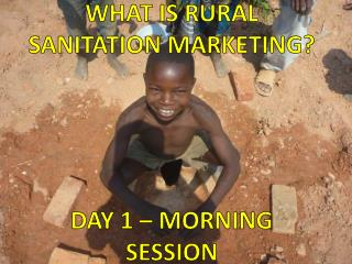What is rural sanitation marketing?