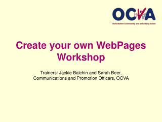 Create your own WebPages Workshop