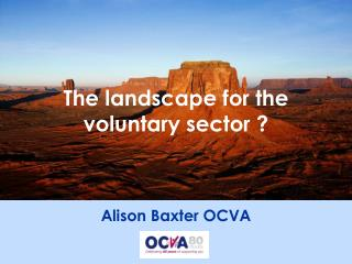 The landscape for the voluntary sector ?