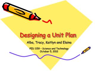 Designing a Unit Plan