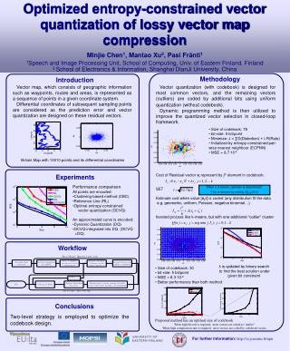 Optimized entropy-constrained vector quantization of lossy vector map compression
