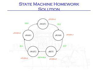 State Machine Homework Solution