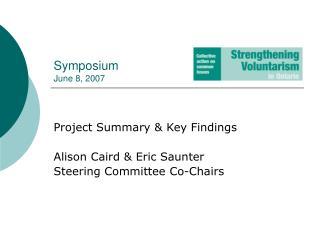 Symposium June 8, 2007