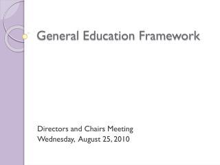 General Education Framework