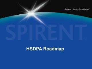 HSDPA Roadmap