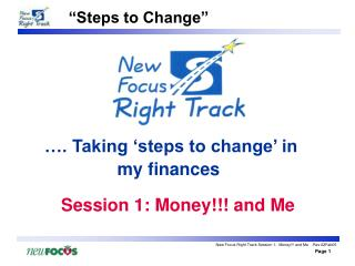 …. Taking 'steps to change' in my finances