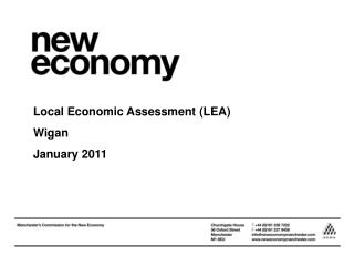 Local Economic Assessment (LEA) Wigan January 2011