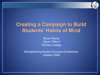 Creating a Campaign to Build Students' Habits of Mind