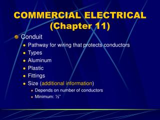 COMMERCIAL ELECTRICAL (Chapter 11)