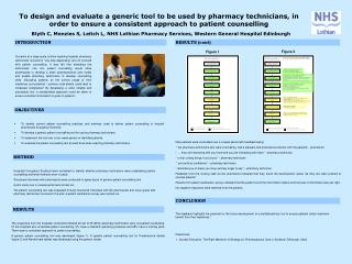 To design and evaluate a generic tool to be used by pharmacy technicians, in order to ensure a consistent approach to pa