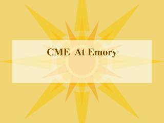 CME  At Emory