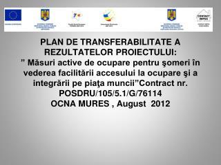 Care au fost etapele parcurse pentru realizarea Planului de transferabilitate?