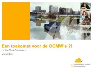 Een toekomst voor de OCMW's ?!