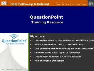 QuestionPoint  Training Resource