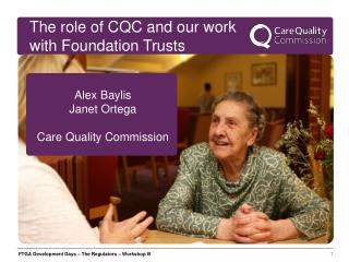 Alex Baylis Janet Ortega Care Quality Commission