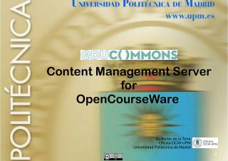 Content Management Server for OpenCourseWare