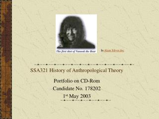 SSA321 History of Anthropological Theory