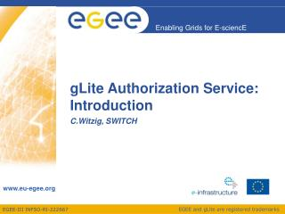 gLite Authorization Service: Introduction