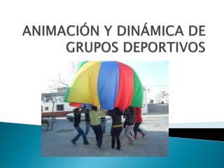 ANIMACIÓN Y DINÁMICA DE GRUPOS DEPORTIVOS