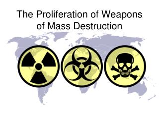 The Proliferation of Weapons of Mass Destruction