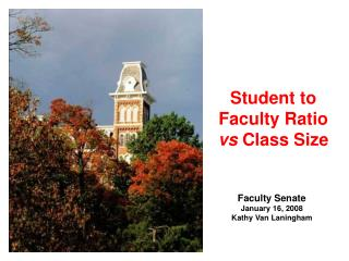 Student to Faculty Ratio  vs  Class Size