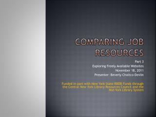 Comparing Job Resources