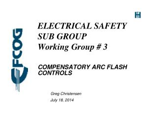 ELECTRICAL SAFETY SUB GROUP  Working Group # 3