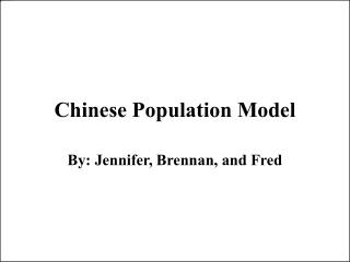 Chinese Population Model