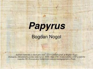 Papyrus Bogdan Nogol