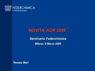 NOVITA' ADR 2009