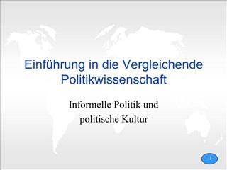 Einf hrung in die Vergleichende Politikwissenschaft