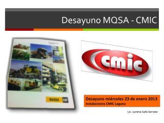 Desayuno MQSA - CMIC