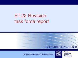 ST.22 Revision task force report