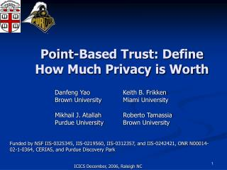 Point-Based Trust: Define How Much Privacy is Worth